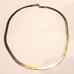 "14k Gold Flat Necklace 18"""